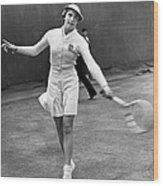 Tennis Star Katherine Stammers Wood Print
