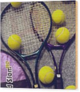 Tennis Still Life 2 Wood Print