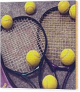 Tennis Still Life 3 Wood Print