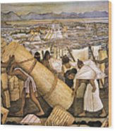 Tenochtitlan (mexico City) Wood Print by Granger