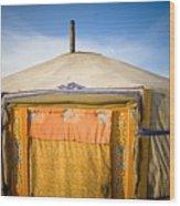 Tent In The Desert Ulaanbaatar, Mongolia Wood Print