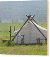 Tent Living Montana 2010 Wood Print