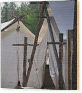 Tent Living Montana Wood Print
