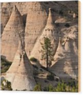 Tent Rocks Wilderness Wood Print