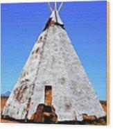 Tepee Trading Post Wood Print