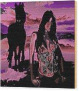 Tequilla Sunrise Wood Print