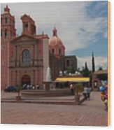 Tequisqueapan Main Catherdral, Mexico Wood Print
