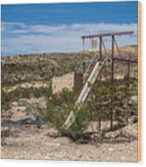Terlingua Ghost Town #5 Wood Print