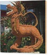 Dragon Statue Wood Print