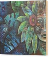 Terra Pacifica By Reina Cottier Nz Artist Wood Print