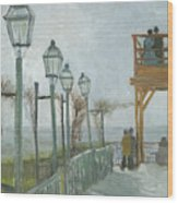 Terrace And Observation Deck At The Moulin De Blute Fin Wood Print