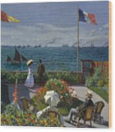 Terrace At Sainte-adresse Wood Print