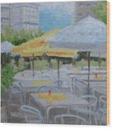 Terrace Cafe Wood Print