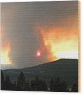 Terrace Mountain Fire 3  Wood Print