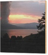 Terrace Mountain Fire 4  Wood Print