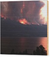 Terrace Mountain Fire 5  Wood Print