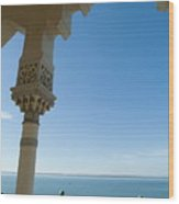 Terrace With A View Of The Sea On Top Of The Palacio De Valle Wood Print by Sami Sarkis