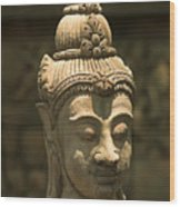 Terracota Statue Head Wood Print