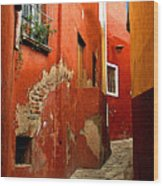 Terracotta Alley Wood Print