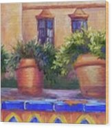 Terracotta And Tiles Wood Print