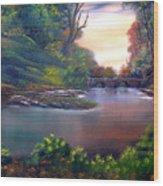 Terracotta Crossing Sold Wood Print by Cynthia Adams