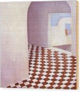 Terracotta Tile Wood Print