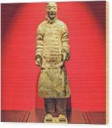 Terracotta Warrior  A Brave Commanding Officer   Wood Print