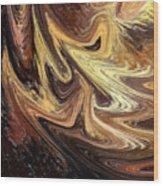 Terrestrial Brush Strokes  Wood Print