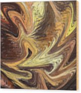 Terrestrial Fire Abstract Wood Print