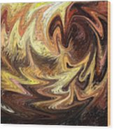 Terrestrial Flames Abstract  Wood Print