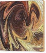 Terrestrial Vortex Abstract Wood Print