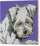 Terrier Mix Wood Print