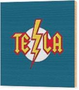 Tesla Bolt Wood Print