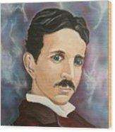Tesla Wood Print
