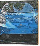 Tesla Roadster Electric Sports Car Wood Print by Samuel Sheats