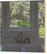 Window Over The Sink Wood Print