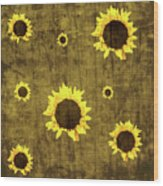 Test Rustic Sunflower Custom Wood Print