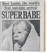 Test-tube Baby, 1978 Wood Print