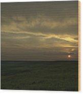 Teterville Sunset Wood Print