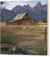 Teton Barn 2 Wood Print