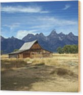 Teton Barn 3 Wood Print