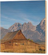 Teton Barn Wood Print