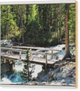 Teton Bridge Wood Print