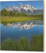 Teton Meadows Wood Print