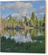 Teton Mirror Image Wood Print