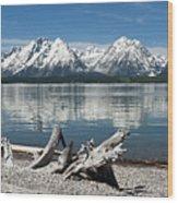 Teton Range Reflections Wood Print