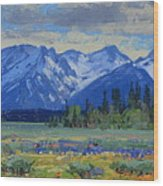 Teton Summer Wood Print