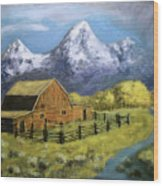 Teton Summer Wood Print
