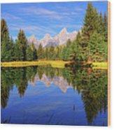 Teton Tranquility Wood Print