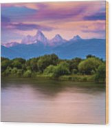 Teton Valley Paradise  Wood Print